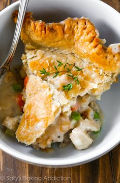 Double Crust Chicken Pot Pie Recipe with the FLAKIEST homemade pie crust! Brilliantly delicious.