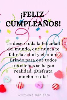 Spanish Birthday Wishes, Happy Birthday Posters, Happy Birthday Video, Happy Birthday Wishes Quotes, Happy Birthday Celebration, Birthday Blessings, Happy Birthday Pictures, Birthday Wishes Cards, Happy Wishes