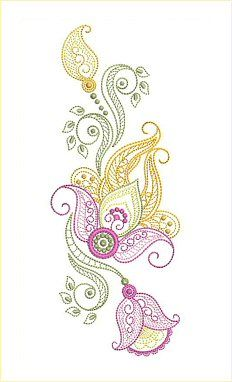 31 Embroidery Designs Design Sizes: Designs Designs Designs *The set also includes 11 element designs in Please take a minute view the combinations ideas at bottom of page. Machine Embroidery Designs, Embroidery Patterns, Paisley Flower, Edwardian Dress, Crewel Embroidery, Color Lines, Paisley Design, Line Drawing, Painting Art