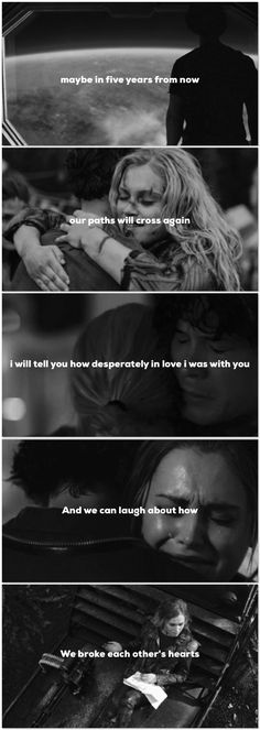 Maybe in five years from now | Bellarke. okay this actually breaks my heart like I cant wait five years!