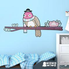 Vinilo infantil WAWAWIWA: Pájaro 2 sobre rama en invierno #vinilo #decoracion #wawawiwa #pared #infantil #habitacion #TeleAdhesivo Home Decor, Home, Adhesive, Kids Rooms, Vinyls, Fabrics, Decoration Home, Room Decor, Home Interior Design