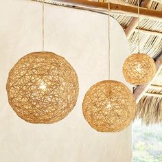 Balloon/ball pendant lamp. Simple DIY and incredible result. Twine, hemp, yarn even doilies. Imagine the possibilities! wangyijun