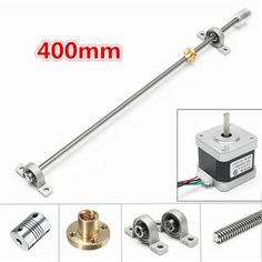 Only US$18.99, buy best Machifit NEMA17 Stepper Motor with 400mm T8 Lead Screw Mounted Ball Bearing and Shaft Coupling sale online store at wholesale price.US/EU warehouse.