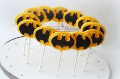 Batman Birthday Batman Chocolate Pops Batman Candy Batman Cookies Batman Party Favor Batman Logo Batman Robin Super Hero Favors Chocolate by CupcakeNovelties on Etsy https://www.etsy.com/listing/398980653/batman-birthday-batman-chocolate-pops