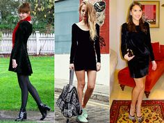 Veludo: vestido