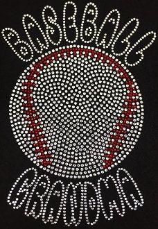 Baseball Grandma-Rhinestone T-shirt by BlingU on Etsy