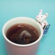 Create a tea bag holder clay rabbit (color clay)