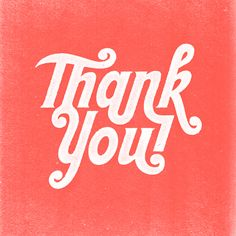 thank you #typography