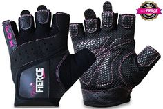 Womens Weightlifting Gloves plus FREE Padded Figure 8 Lifting Straps for Powerlifting-Gym-Crossfit-Weight Training-Biking-Cycling-Best for Comfort-Grip and Callus Protection-WashableFREE Fox Fierce Fitness Workout for Women Ebook