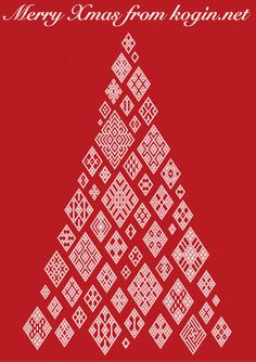 kogin tree for Christmas someday. Machine Embroidery Thread, Diy Embroidery, Cross Stitch Embroidery, Cross Stitch Patterns, Embroidery Designs, Christmas Flyer, Christmas Design, Holiday Pops, Christmas Embroidery Patterns