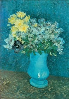 Vase of Lilacs, Daisies and Anemones ~ Vincent Van Gogh