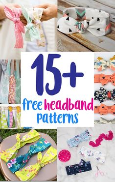 Sewing projects using Fabric Scraps. free fabric scrap sewing projects, diy tutorials, and patterns. Sew quick and easy, simple fabric crafts using small leftover fabric scraps. Many beginner friendly projects. Sewing Headbands, Diy Baby Headbands, Fabric Headbands, Diy Headband, Flower Headbands, Headband Tutorial, Headband Pattern, Bow Tutorial, Flower Tutorial
