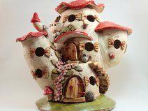 Keramik Haus Windlicht Tischlampe