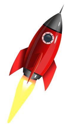 Vintage/Retro/Classic Space-Age Rocket Art