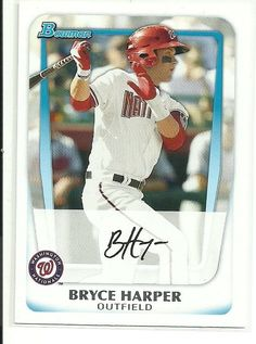 201 Bowman Prospects Bryce Harper Nationals RC #BP1A Rookie #BowmanProspects…