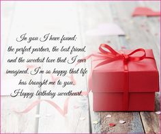 Birthday Quotes : Happy Birthday Love SMS – I Found The Perfect Partner… Happy Birthday Lover, Birthday Surprise For Girlfriend, Happy Birthday Love Quotes, Birthday Wishes For Love, Romantic Birthday Wishes, Birthday Wish For Husband, Birthday Wishes Messages, Birthday Greetings, Happy Bday My Love