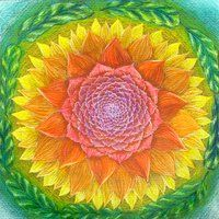 Mandala 57 by Hadas  Would be beautiful embroidered on a jacket lapel or hat.