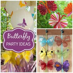 Here are some great butterfly party ideas!  | CatchMyParty.com