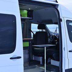 alaska-camper-vans | Gallery Van Conversion Floor Plans, Ford Van Conversion, Diy Van Conversions, Van Conversion Interior, Sprinter Van Conversion, Mercedes Sprinter Camper Van, 4x4 Camper Van, Mercedes Van, Benz Sprinter