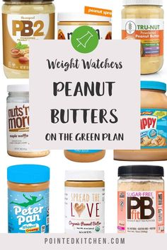 This list of over 20 peanut butters has been compiled for anyone following the Weight Watchers plan with SmartPoints worked out per serving. Whether you follow the Green plan, Blue plan, Purple plan you will find a WW friendly peanut butter to suit you! #wwblueplan #wwgreeplan #wwpurpleplan #wwbreakfast #weightwatchers #peanutbutter #wwpeanutbutter