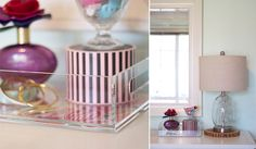 Laura Dro Designs Lucite Tray giveaway on Michaela Noelle blog!  Love how she style it!