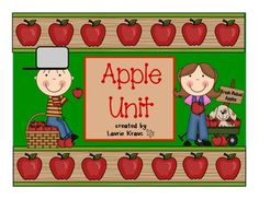 Apples- great activities for an apple unit includes Johnny Appleseed - TpT