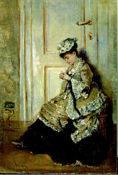 Female in Interior by Theodor Aman