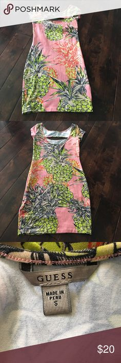 HP🎉Guess Dress Cute pineapple design. Only worn once to a picnic . Guess Dresses