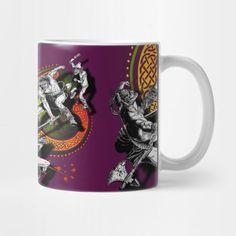 'Ukko and the Slayer' mug @teepub #discount #teepublicmugs #teepublic #mugs #legend #ukko #slayer #sword #fantasy #mythological #irishmyths #celtic #nordic #mashup #cups #homeware #homedecor #cupoftea #coffeemugs #illustration #comicbook