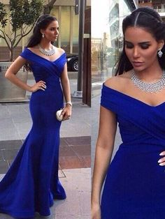 Trumpet/Mermaid+Off-the-shoulder+Floor-length+Satin+Prom+Dresses/Evening+Dresses+#SP7207