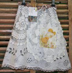 doily skirt Holly Hobbie size 2 by funkymonkie on Etsy, $26.00
