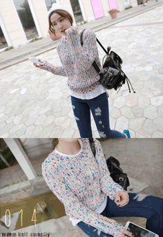 Today's Hot Pick :❉双色可选❉甜美混合色束腰针织毛衣 http://fashionstylep.com/SFSELFAA0015223/irisccccn/out 温暖针织毛衣,时尚绚丽来袭! 靓丽的混合色彩,粗线针织工艺,更是引爆时尚潮流! 束腰的版型,轻松修饰你的迷人小蛮腰~ 呈现出梦境般的优雅美妙~ -混合色彩- -粗线针织- -束腰-