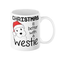 Christmas is Better With A Westie Mug - The Westies Shop