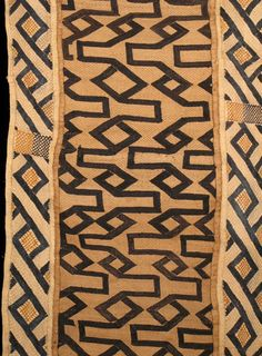 I am attracted to neutral shades of  Kuba Cloth that show a variation in design all on one piece. Indigo Arts Gallery | Art from Africa | Kuba Textiles