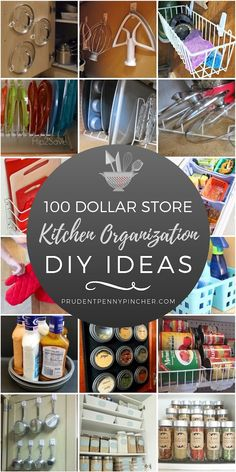 Organize your kitchen for cheap with these dollar store kitchen organization ideas. From DIY spice racks to pan storage hacks, there are pleny of ideas here Organization 100 Dollar Store Kitchen Organization Ideas Organisation Hacks, Organizing Hacks, Storage Organization, Kitchen Organization Tips, Tupperware Organizing, Travel Trailer Organization, Diy Hacks, Dollar Tree Organization, Small Space Organization