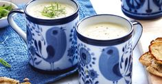 Classic leek and potato soup is a creamy winter warmer. Winter Soups, Winter Food, Winter Savory, Potato Soup Calories, Soup Recipes, Cooking Recipes, Yummy Recipes, Diet Recipes, Lemon Cheese