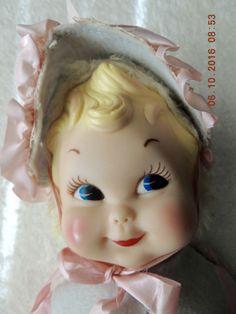 Vintage Rushton Little Bo Peep Musical Doll Rubber Face Stuffed Plush Working