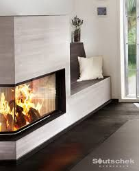 moderner ofen mit bank - Google-Suche Gas Stove, Reading Nook, Beautiful Homes, Sweet Home, Fire, Interior Design, Living Room, Architecture, Places
