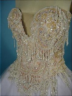 Antique Dress - Item for Sale Ballerina Costume, Ballet Costumes, Vintage Dresses, Vintage Outfits, Vintage Fashion, Beautiful Gowns, Fashion History, Beaded Embroidery, Fashion Details