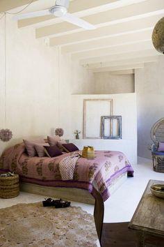 Rustic bedroom - Casa Daniela. Formentera, Spain