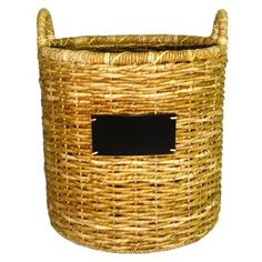 Chalkboard basket from Target. My new favorite purchase!