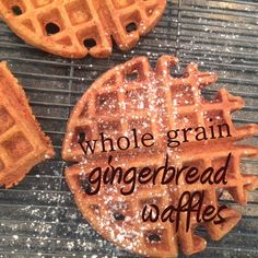 Whole Grain Gingerbread Waffles