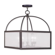 Livex Lighting Milford 4 Light Candle-Style Chandelier