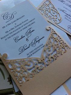 plaza Billetera Tarjetas de boda Hágalo usted mismo invita a. Hot Pink Pearl Bolsillo Plegable Invitaciones