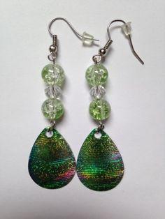 Green-Shimmer-Handmade-Dangle-Fishing-Lure-Earrings-LB-03