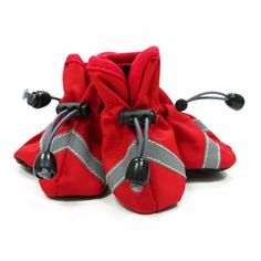 shop for Slip-On Paws Dog Booties by Dogo - Solid Red on doggiefanshop.com