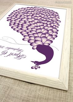 Peacock Wedding Guest book Alternative  175 by PERSONALIZEDprints, $55.00