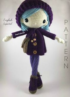 Emilia - Amigurumi Doll Crochet Pattern PDF