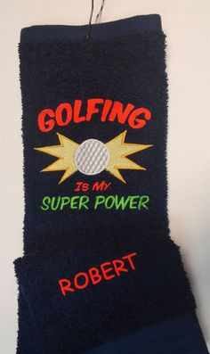 Hey, I found this really awesome Etsy listing at https://www.etsy.com/listing/213249027/golf-towel-my-super-power-fun-useful