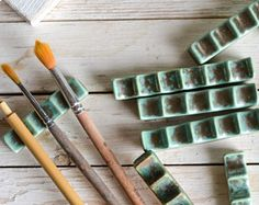 Ceramic Brush Pen Rest Paintbrush Calligraphy Holder Watercolor Brush Painting Tools Oil Painter Gifts for Artists Art TeacherCalligraphy Pen Rest or Brush Rest. Great addition to your Calligraphy Kit.Pottery for Fun Ceramic Brush, Ceramic Art, Ceramic Painting, Diy Clay, Clay Crafts, Ceramic Pottery, Pottery Art, Gifts For An Artist, Ceramics Projects